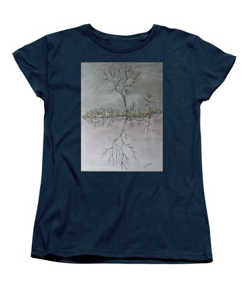 Women's T-Shirt (Standard Cut) featuring the drawing First Frost by Jack G Brauer