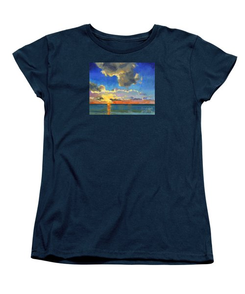 Women's T-Shirt (Standard Cut) featuring the painting First Light by Nancy  Parsons