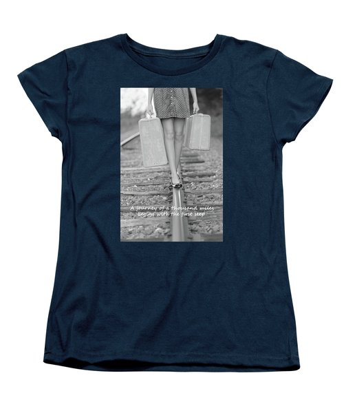 Women's T-Shirt (Standard Cut) featuring the photograph First Step by Barbara West