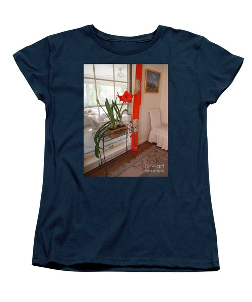 Women's T-Shirt (Standard Cut) featuring the photograph First There Was Red by Nancy Kane Chapman