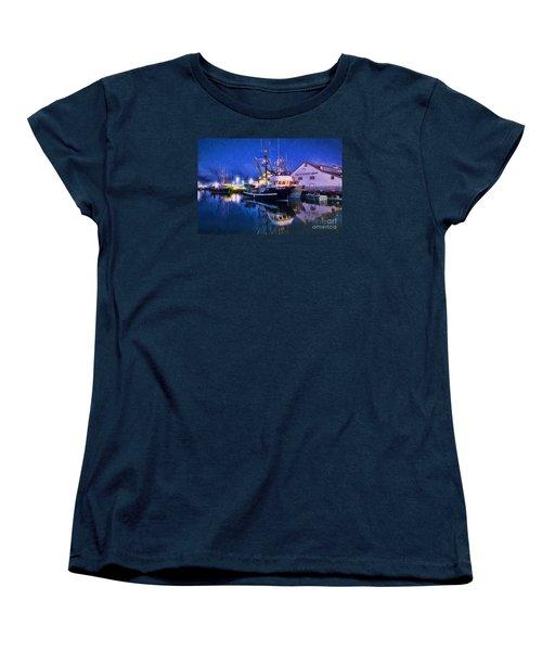 Fish Boats Women's T-Shirt (Standard Cut) by Jim  Hatch