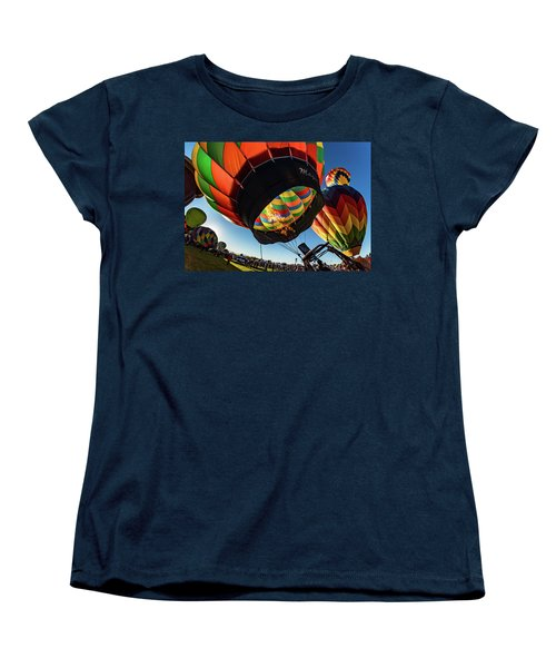 Fish Eye View Of The Balloon Races Women's T-Shirt (Standard Cut) by Janis Knight