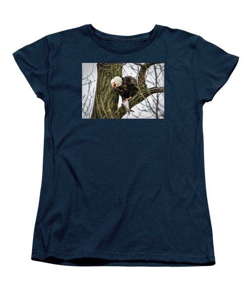 Fish For Dinner Women's T-Shirt (Standard Cut) by Ray Congrove