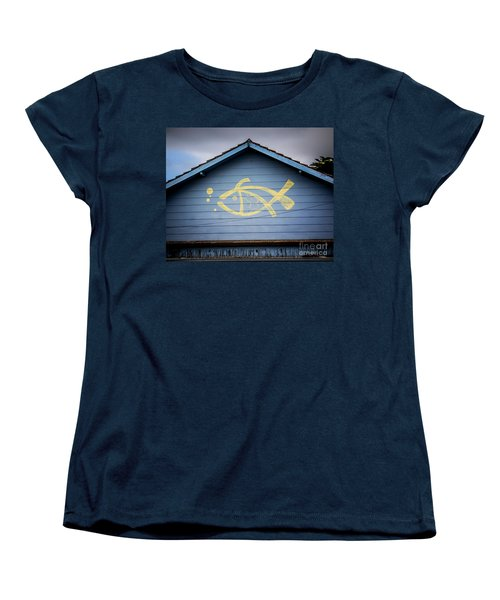 Women's T-Shirt (Standard Cut) featuring the photograph Fish House by Perry Webster