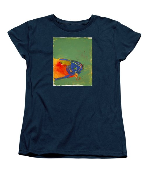 Fish Pondering The Anomaly Of Mans Anamnesis Women's T-Shirt (Standard Cut) by Cliff Spohn