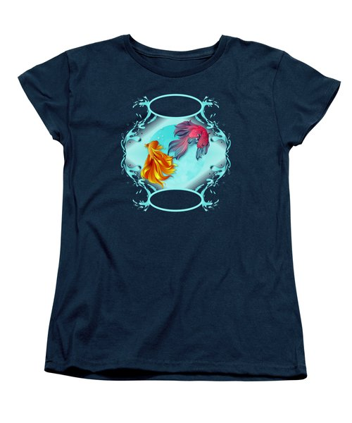 Fish Bowl Fantasy Women's T-Shirt (Standard Cut) by Robert G Kernodle