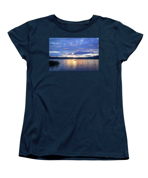 Fisherman Heading Home Women's T-Shirt (Standard Cut) by Keith Boone