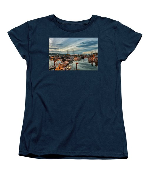 Women's T-Shirt (Standard Cut) featuring the photograph Fishermans Wharf by Randy Hall