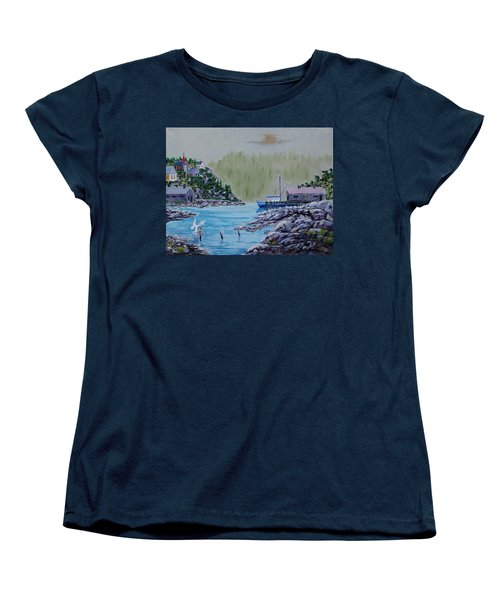 Fisher's Cove Women's T-Shirt (Standard Cut) by Mike Caitham