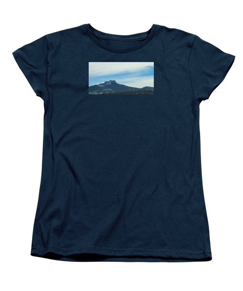 Fishers Peak Raton Mesa In Snow Women's T-Shirt (Standard Cut) by Christopher Kirby
