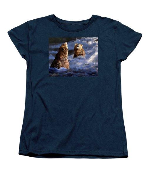 Fishing Alaska Women's T-Shirt (Standard Cut) by Bill Stephens