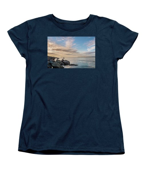 Women's T-Shirt (Standard Cut) featuring the photograph Fishing Along The South Jetty by Greg Nyquist