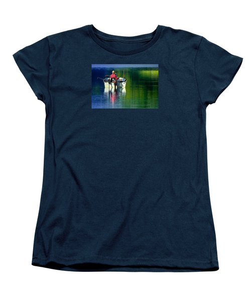 Women's T-Shirt (Standard Cut) featuring the photograph Fishing And Wishing 2 by Brian Stevens