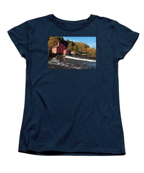 Fishing At The Old Mill Women's T-Shirt (Standard Cut)