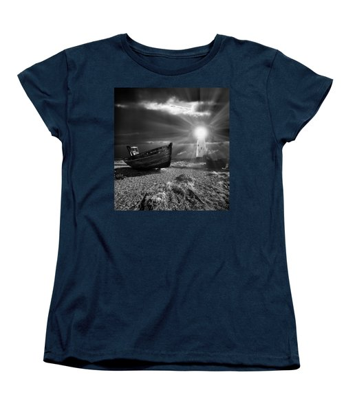 Fishing Boat Graveyard 7 Women's T-Shirt (Standard Cut) by Meirion Matthias