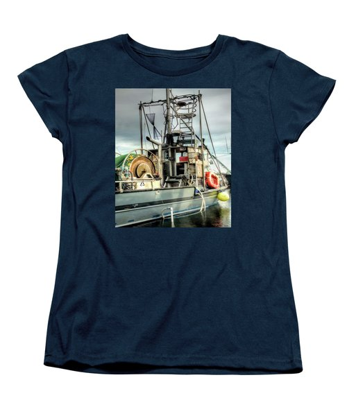 Fishing Boat Rigging Women's T-Shirt (Standard Cut) by Greg Sigrist