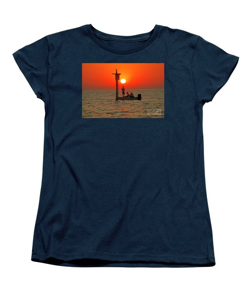 Fishing In Lacombe Louisiana Women's T-Shirt (Standard Cut) by Luana K Perez