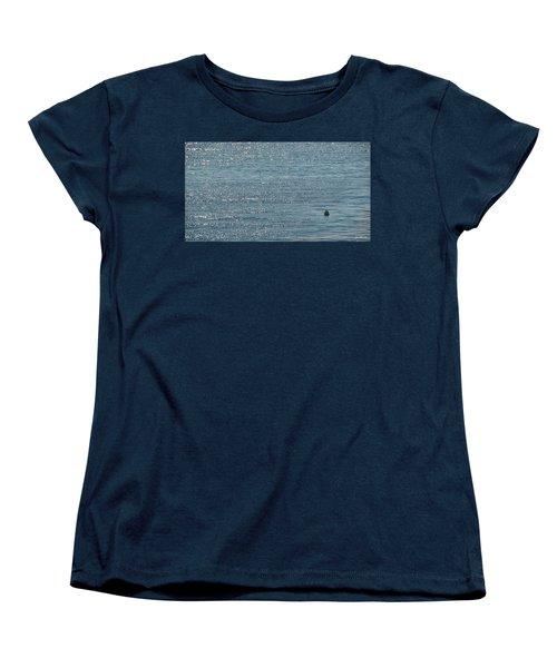 Women's T-Shirt (Standard Cut) featuring the photograph Fishing In The Ocean Off Palos Verdes by Joe Bonita