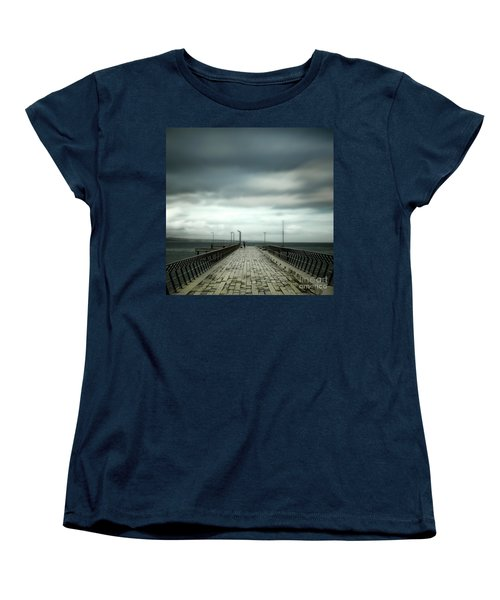 Women's T-Shirt (Standard Cut) featuring the photograph Fishing Pier by Perry Webster