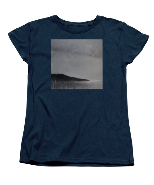 Women's T-Shirt (Standard Cut) featuring the painting Fjord Landscape by Tone Aanderaa