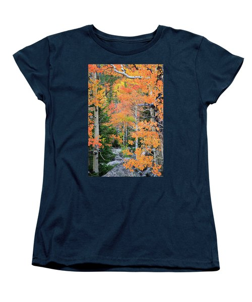 Women's T-Shirt (Standard Cut) featuring the photograph Flaming Forest by David Chandler