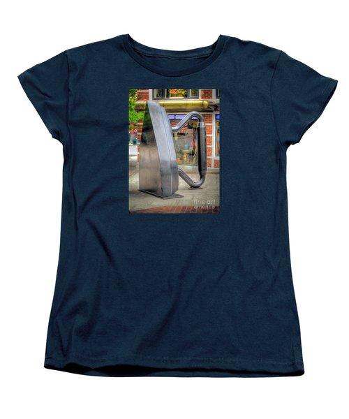 Women's T-Shirt (Standard Cut) featuring the photograph Flat Iron Sculpture by Marion Johnson
