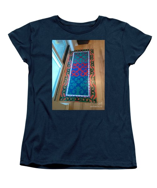 Floor Cloth Arabesque Women's T-Shirt (Standard Cut) by Judith Espinoza
