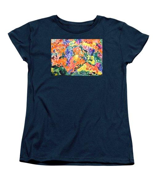 Flora Ablaze Women's T-Shirt (Standard Cut) by Esther Newman-Cohen