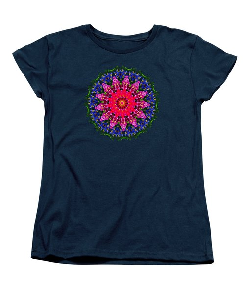 Women's T-Shirt (Standard Cut) featuring the photograph Floral Kaleidoscope By Kaye Menner by Kaye Menner