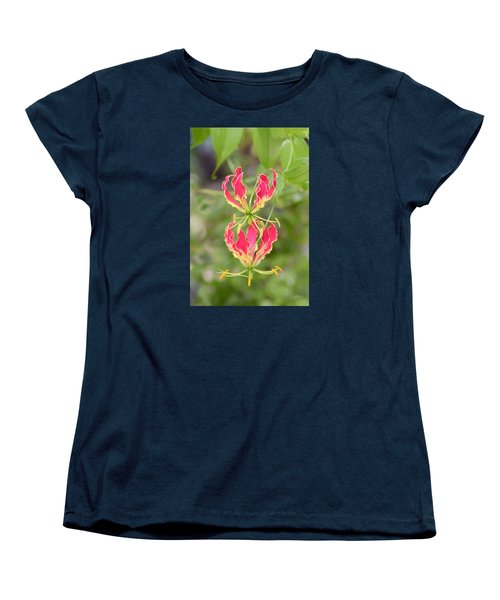 Floral Twirlers Women's T-Shirt (Standard Cut) by Deborah  Crew-Johnson