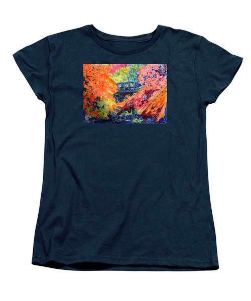 Floral View Of The Bridge Women's T-Shirt (Standard Cut) by Esther Newman-Cohen