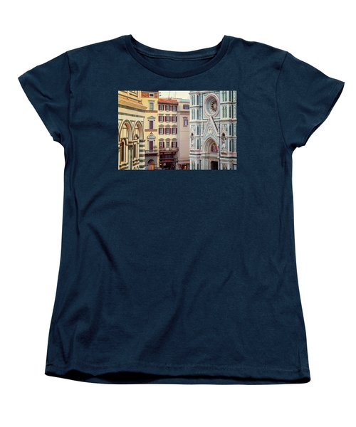 Women's T-Shirt (Standard Cut) featuring the photograph Florence Italy View by Joan Carroll