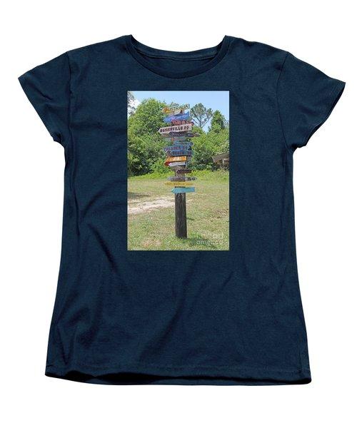 Women's T-Shirt (Standard Cut) featuring the photograph Florida Crossroads 3 by Dodie Ulery