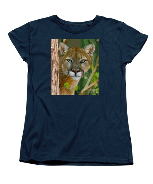 Women's T-Shirt (Standard Cut) featuring the photograph Florida Panther by Larry Nieland
