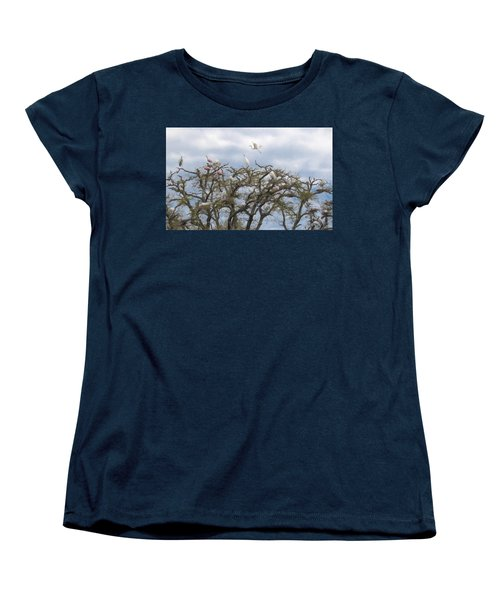Florida Rookery Women's T-Shirt (Standard Cut) by Kelly Marquardt