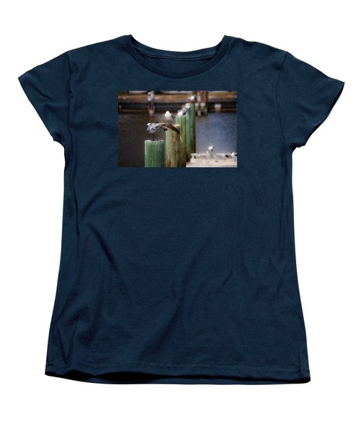 Florida Seagull Playing Women's T-Shirt (Standard Cut) by Jason Moynihan