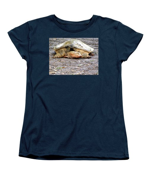 Women's T-Shirt (Standard Cut) featuring the photograph Florida Softshell Turtle 000 by Chris Mercer