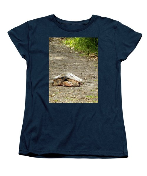 Women's T-Shirt (Standard Cut) featuring the photograph Florida Softshell Turtle  by Chris Mercer