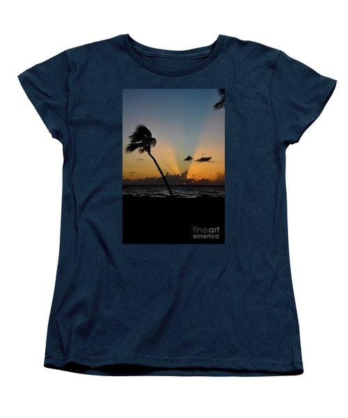Florida Sunrise Palm Women's T-Shirt (Standard Cut) by Kelly Wade