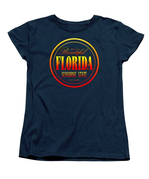 Florida Sunshine State - Tshirt Design Women's T-Shirt (Standard Cut) by Art America Gallery Peter Potter