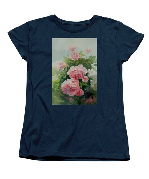 Women's T-Shirt (Standard Cut) featuring the painting Flower 11 by Helal Uddin