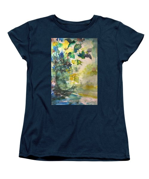 Flower And Vase Stilllife  Women's T-Shirt (Standard Cut) by Robin Miller-Bookhout