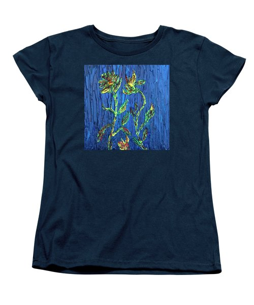 Flower Dance Women's T-Shirt (Standard Cut) by Vadim Levin