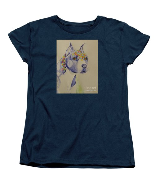 Flower Dog 1 Women's T-Shirt (Standard Cut) by Hilda and Jose Garrancho