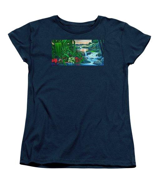 Flower Garden Ix Women's T-Shirt (Standard Cut) by Michael Frank