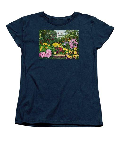 Flower Garden Xii Women's T-Shirt (Standard Cut) by Michael Frank