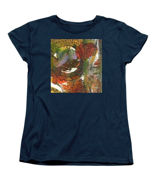 Women's T-Shirt (Standard Cut) featuring the mixed media Flower In The Tropics by Angela L Walker