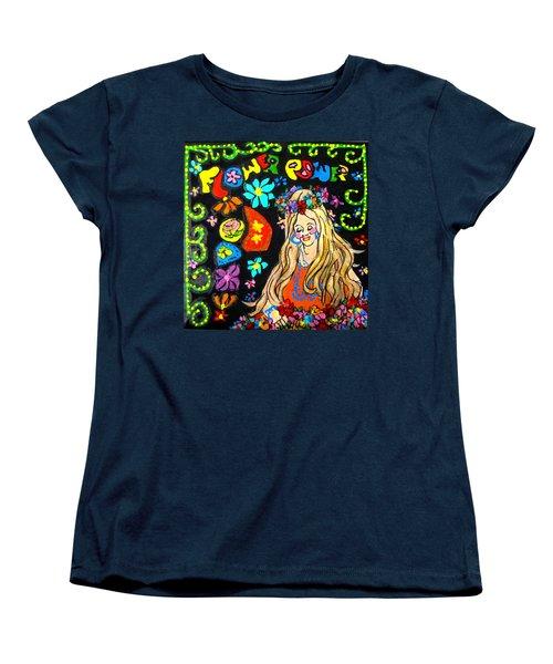 Flower Power Women's T-Shirt (Standard Cut) by Barbara O'Toole