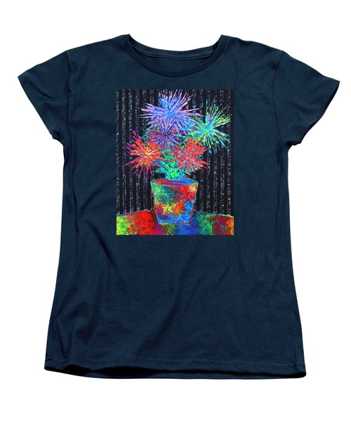 Flower-works Plant Women's T-Shirt (Standard Cut) by Jeremy Aiyadurai