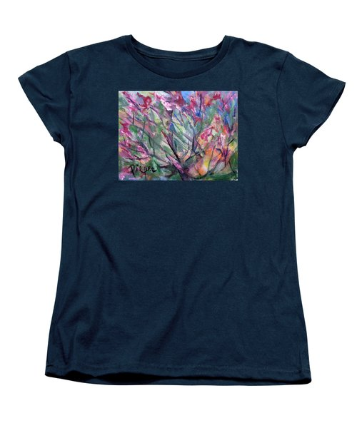 Women's T-Shirt (Standard Cut) featuring the painting Flowering by Betty Pieper